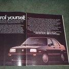 1985 1986 VOLKSWAGEN JETTA GLI VINTAGE CAR AD 2-PAGE