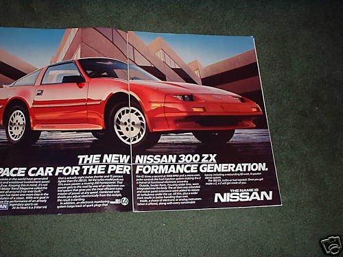 1986 NISSAN 300 ZX VINTAGE CAR AD 2-PAGE