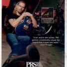 * NICKELBACK CHAD KROEGER PRS PAUL REED SMITH GUITAR AD