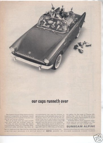 1962 1963 SUNBEAM ALPINE VINTAGE CAR AD