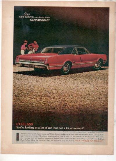 1966 1967 OLDSMOBILE CUTLASS VINTAGE CAR AD