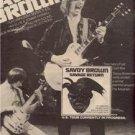 1978 SAVOY BROWN SAVAGE RETURN POSTER TYPE AD
