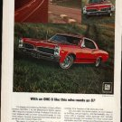 * 1967 PONTIAC LEMANS SPRINT PHOTO PRINT AD