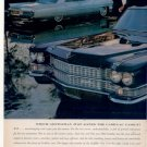 * 1963 CADILLAC PHOTO PRINT CAR AD