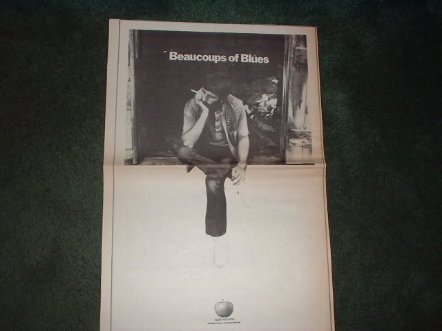 * 1970 BEAUCOUPS OF BLUES POSTER TYPE  AD