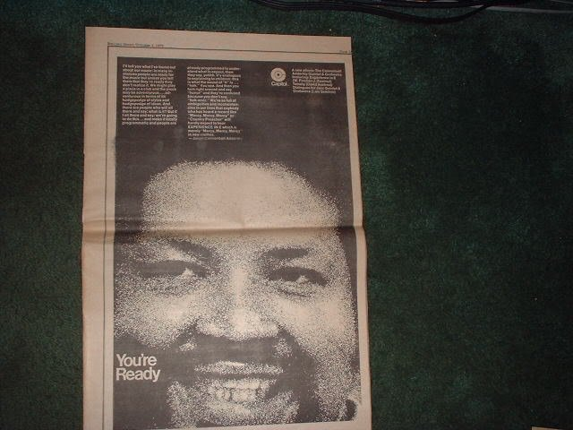 * 1970 CANNONBALL ADDERLEY QUINTET POSTER TYPE AD