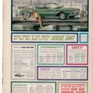 * 1962 DODGE DART PHOTO PRINT AD