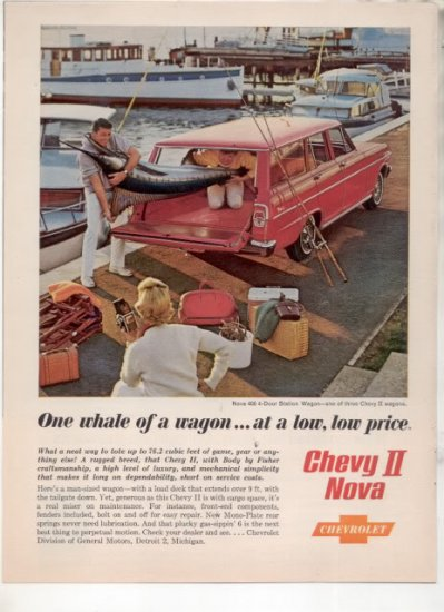 * 1962 CHEVY NOVA 400 STATION WAGON PHOTO PRINT AD