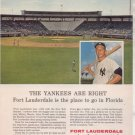 * 1963 MICKEY MANTLE NY YANKEES PHOTO AD