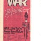 1979 WAR POSTER TYPE TOUR AD