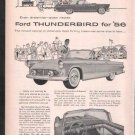 * 1956 FORD THUNDERBIRD PHOTO PRINT AD