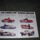 1985 1986 FORD THUNDERBIRD RACING TEAMS CAR AD 2-PAGE