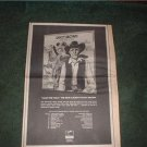 1973 SAVOY BROWN JACK THE TOAD POSTER TYPE AD