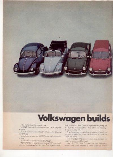 * 1968 VOLKSWAGEN WAGON BUG KARMANN GHIA FULL LINE AD