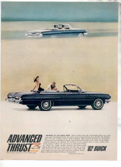 * 1962 BUICK WILDCAT 445 PHOTO PRINT AD