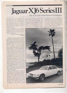 1980 1981 JAGUAR XJ6 SERIES III ROAD TEST AD 5-PAGE