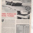 1980 1981 PORSCHE 924S 924 S TURBO ROAD TEST AD 3-PAGE
