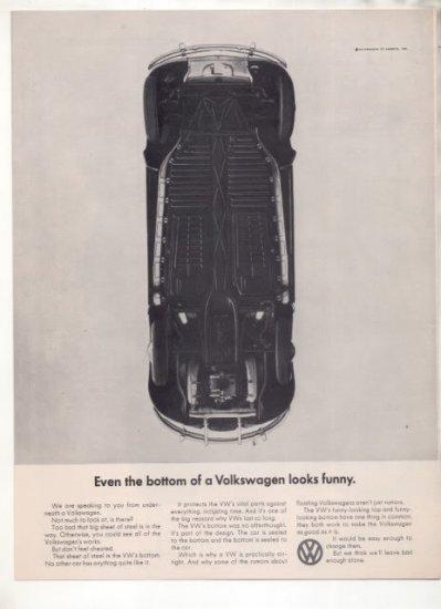 1965 VOLKSWAGEN BUG BEETLE VINTAGE CAR AD