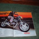 1983 HONDA 550 NIGHTHAWK MOTORCYCLE AD 2-PAGE
