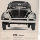 1964 VOLKSWAGEN VW BUG BEETLE CAR AD