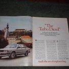 1983 AUDI 5000 TURBO DIESEL CAR AD 2-PAGE