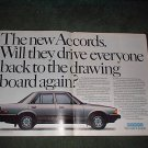 1982 HONDA ACCORD SEDAN 4-DOOR CAR AD 2-PAGE