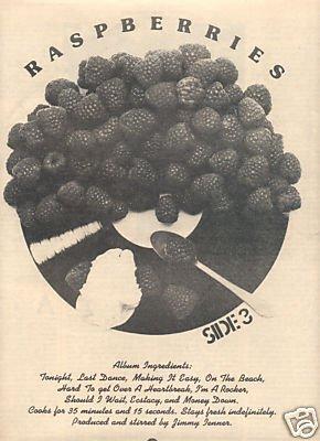 RASPBERRIES POSTER TYPE PROMO AD 1973