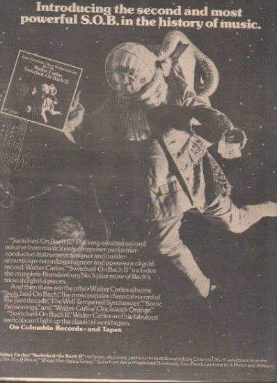 * 1974 WALTER CARLOS POSTER TYPE PROMO AD
