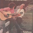* 1974 EPIPHONE GUITAR POSTER TYPE PROMO AD