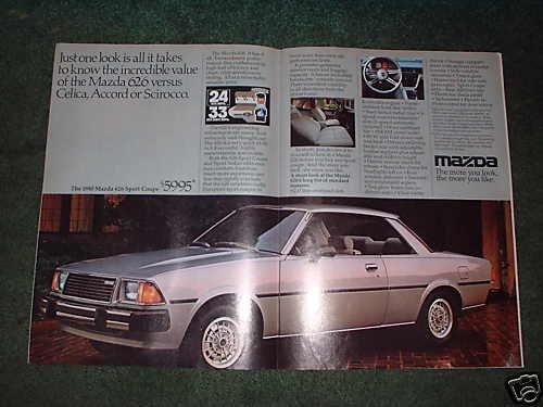 1980 MAZDA 626 SPORT COUPE CAR AD