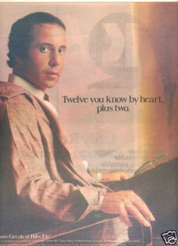 PAUL SIMON GREATEST HITS POSTER TYPE PROMO AD 1977