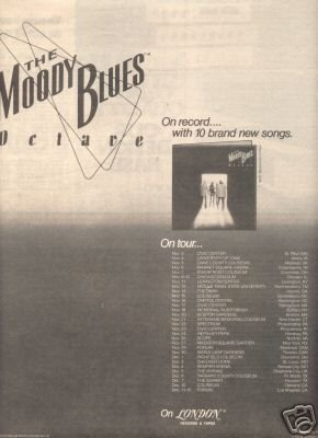 THE MOODY BLUES OCTAVE PROMO AD 1978