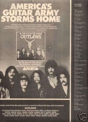 THE OUTLAWS IN THE EYE OF THE STORM PROMO AD 1979
