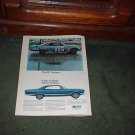 1967 1968 FORD FAIRLANE 427 VINTAGE CAR AD