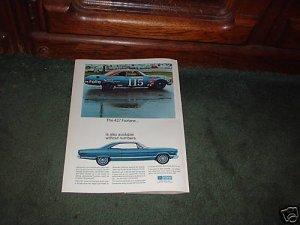 1967 1968 FORD FAIRLANE 427 VINTAGE CAR AD
