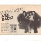 1977 SMALL FACES PLAYMATES POSTER TYPE  AD