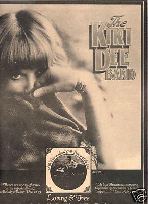KIKI DEE LOVING AND FREE POSTER TYPE PROMO AD 1974