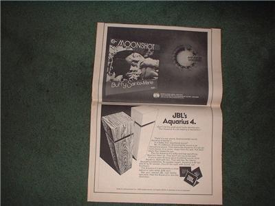 1972 JBL SPEAKERS AQUARIUS 4 POSTER TYPE  AD