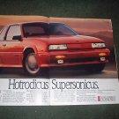 1989 OLDSMOBILE CUTLASS CALAIS VINTAGE CAR AD 2-PAGE