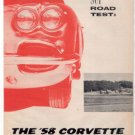 1958 CHEVY CORVETTE ORIGINAL ROAD TEST 5-PAGE