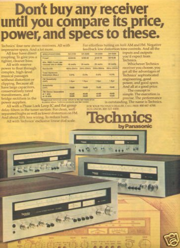 1975 TECHNICS SA-5150 5250 5350 5550 RECEIVER AD