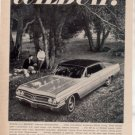 1963 BUICK WILDCAT VINTAGE CAR AD