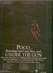 1980 POCO UNDER THE GUN POSTER TYPE TOUR AD