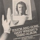 * 1977 GARY WRIGHT TOUCH AND GONE PROMO AD