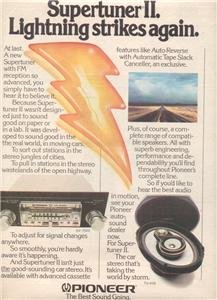 1979 PIONEER SUPERTUNER II SUPER TUNER CAR STEREO AD
