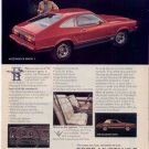 1975 MUSTANG II MACH 1 VINTAGE CAR AD RED