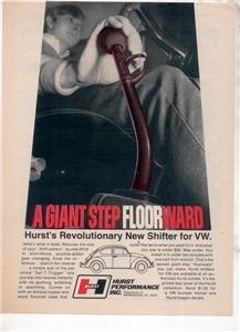 1970 VOLKSWAGEN HURST SHIFTER AD