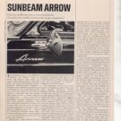 1967 1968 SUNBEAM ARROW VINTAGE ROAD TEST AD 4-PAGE