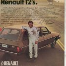 1975 1976 RENAULT 12 BOBBY AL UNSER CAR AD 2-PAGE