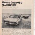 1967 1968 MERCURY COUGAR XR7 XR-7 JAGUAR 420 ROAD TEST